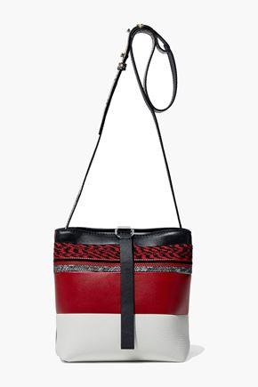 PROENZA SCHOULER Jacquard-paneled leather shoulder bag