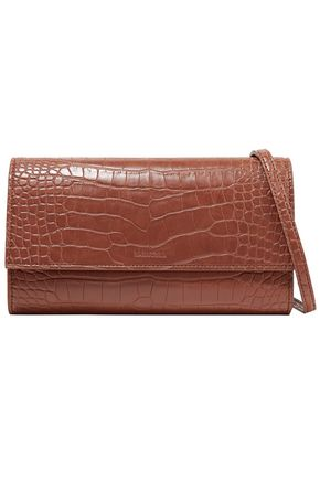 NANUSHKA Croc-effect faux leather shoulder bag