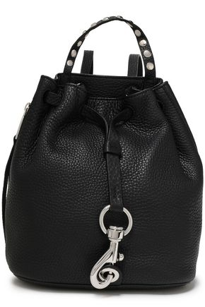 REBECCA MINKOFF Studded pebbled-leather backpack