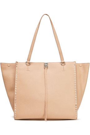 REBECCA MINKOFF Studded textured-leather tote