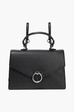 REBECCA MINKOFF Convertible textured-leather backpack