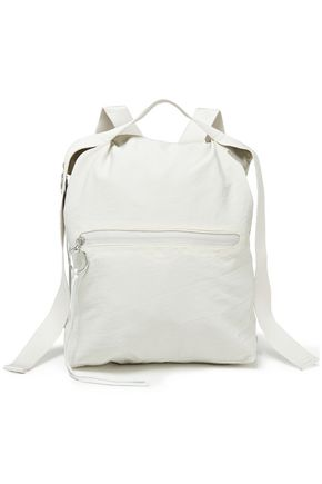 REBECCA MINKOFF Suede-trimmed twill backpack