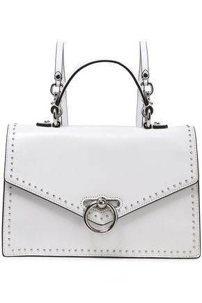 REBECCA MINKOFF Convertible studded cracked-leather backpack