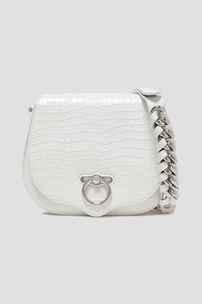 REBECCA MINKOFF Croc-effect leather shoulder bag