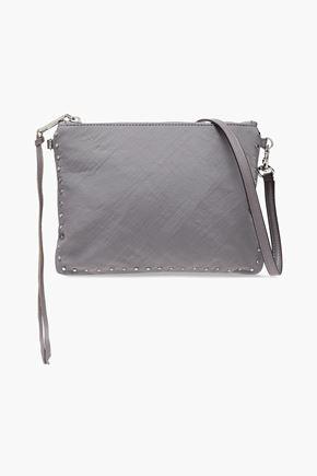 REBECCA MINKOFF Studded crinkled-shell shoulder bag