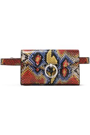 REBECCA MINKOFF Printed snake-effect leather belt bag