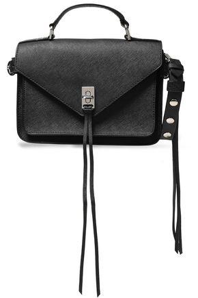 REBECCA MINKOFF Appliquéd textured-leather shoulder bag