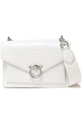 REBECCA MINKOFF Polished croc-effect leather shoulder bag