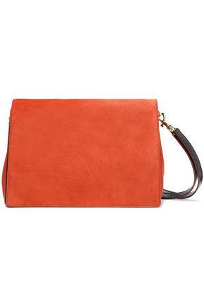 DIANE VON FURSTENBERG Tres Bonne Soirée leather-paneled suede shoulder bag