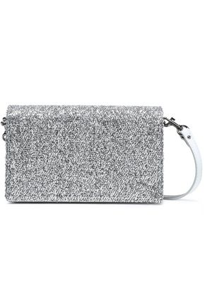 DIANE VON FURSTENBERG Disco Soirée mini tinsel-appliquéd mirrored-leather shoulder bag