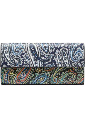 DIANE VON FURSTENBERG Printed textured-leather clutch