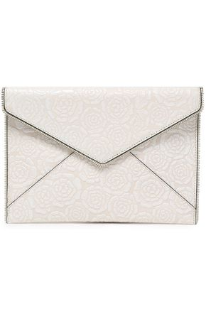 REBECCA MINKOFF Embossed leather envelope clutch
