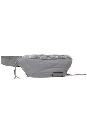 REBECCA MINKOFF Leather-trimmed crinkled-shell belt bag