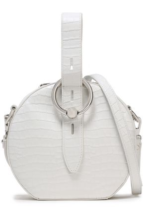 REBECCA MINKOFF Croc-effect leather shoulder bag
