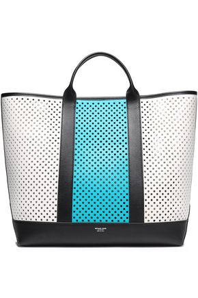 MICHAEL KORS COLLECTION Georgica extra-large perforated color-block leather tote