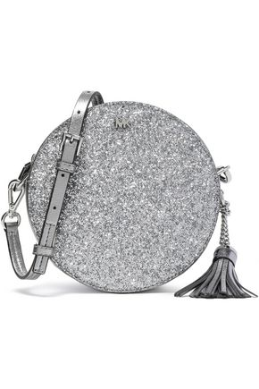 MICHAEL MICHAEL KORS Glittered metallic faux leather shoulder bag