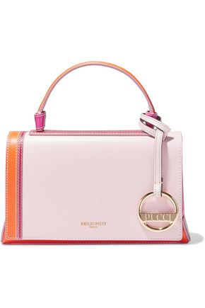 EMILIO PUCCI Pilot mini color-block leather shoulder bag