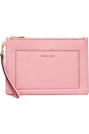 MICHAEL MICHAEL KORS Large textured-leather clutch