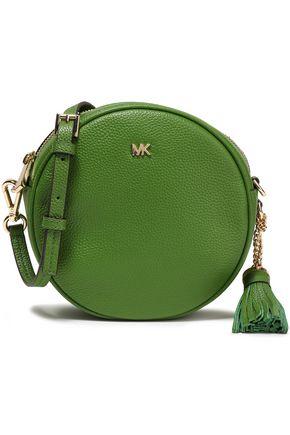 MICHAEL MICHAEL KORS Tassel-trimmed textured-leather shoulder bag