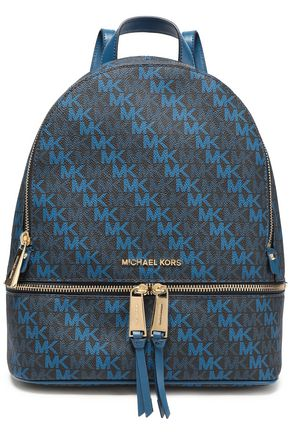 "MICHAEL MICHAEL KORS حقيبة ظهر ""ريا"" من الجلد الاصطناعي مطبعة بشعار الماركة"