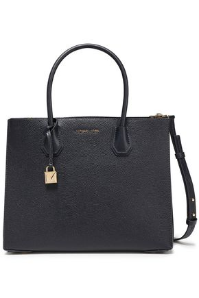 MICHAEL MICHAEL KORS Logo-appliquéd textured-leather tote