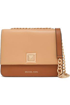 "MICHAEL MICHAEL KORS حقيبة كتف ""سيلفيا"" من الجلد النافر متباينة الألوان"