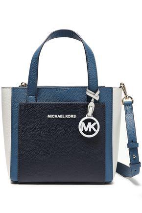 MICHAEL MICHAEL KORS Color-block pebbled-leather shoulder bag