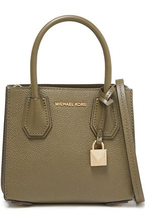 MICHAEL MICHAEL KORS Smooth and textured-leather shoulder bag
