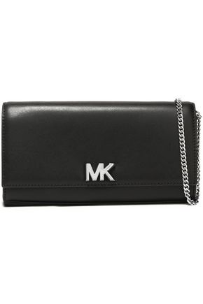 MICHAEL MICHAEL KORS Mott logo-embellished leather clutch