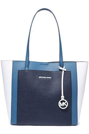 "MICHAEL MICHAEL KORS حقيبة كتف ""جيما"" من الجلد النافر متباينة الألوان ومزينة بشعار الماركة"