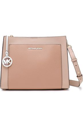 MICHAEL MICHAEL KORS Logo-appliquéd color-block textured-leather shoulder bag