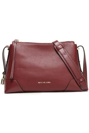 MICHAEL MICHAEL KORS Crosby textured-leather shoulder bag