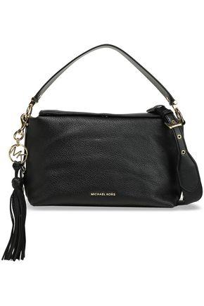 MICHAEL MICHAEL KORS Brooke logo-embellished textured-leather shoulder bag
