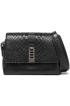 PROENZA SCHOULER Elliott paneled python and leather shoulder bag