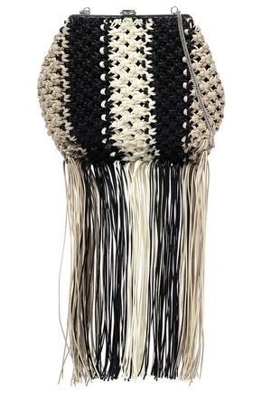 PROENZA SCHOULER Fringe-trimmed braided woven shoulder bag