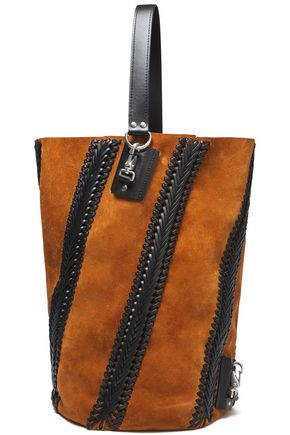 PROENZA SCHOULER Hex whipstitched suede tote