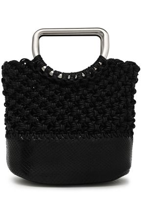PROENZA SCHOULER Market small coated macramé and snake-effect leather tote