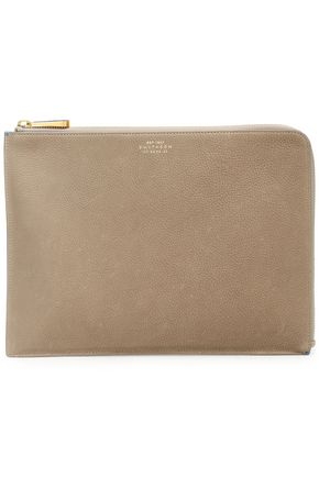 SMYTHSON Eliot textured-leather pouch