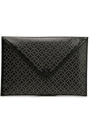 ALAÏA Studded leather envelope clutch
