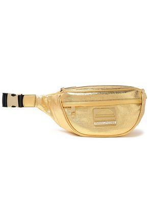 MARC JACOBS Metallic cracked-leather belt bag