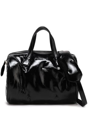 ANYA HINDMARCH Crinkled patent-leather tote
