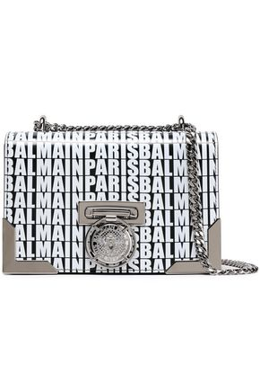BALMAIN Printed leather shoulder bag