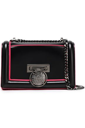 BALMAIN Two-tone leather shoulder bag