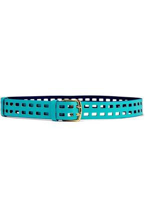 DIANE VON FURSTENBERG Perforated suede belt