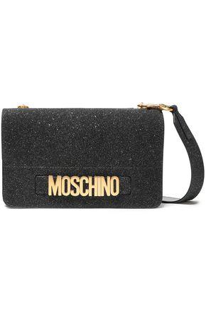 モスキーノ 装飾付き グリッター加工レザー ショルダーバッグ