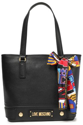 LOVE MOSCHINO Bow-embellished faux leather shoulder bag