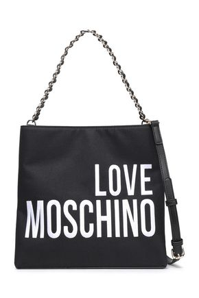 LOVE MOSCHINO Logo-embroidered canvas shoulder bag