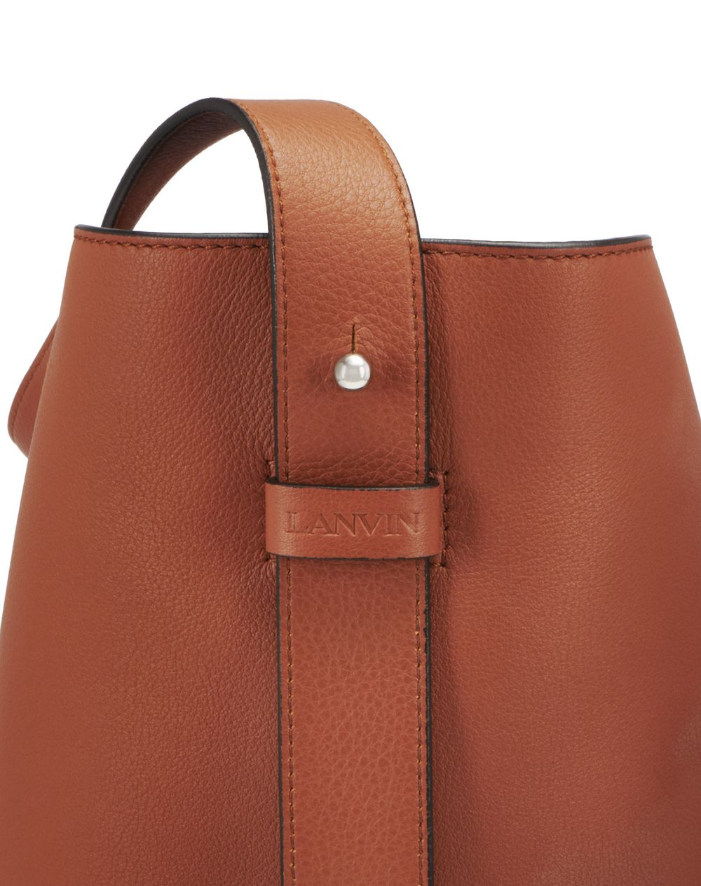EARTH-COLOURED HOOK BAG - Lanvin