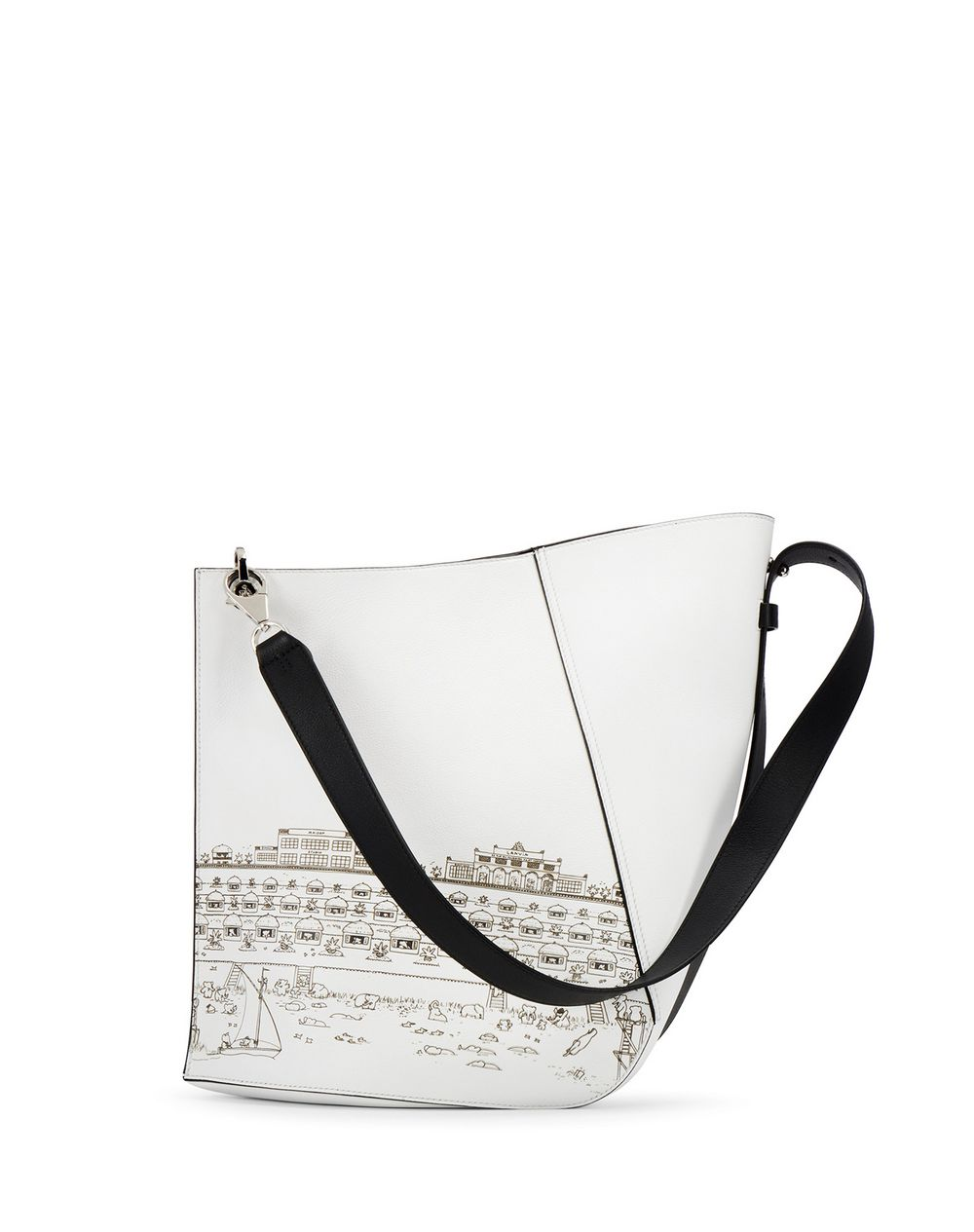 HOOK BABAR PRINT BAG MEDIUM - Lanvin
