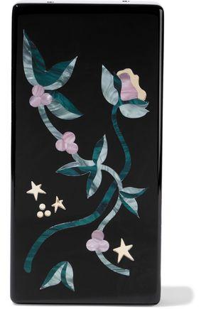 EDIE PARKER Minnie floral-print acrylic box clutch